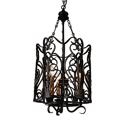 Branch 16 inch 3 Light Chandelier with Autumn Bronze Finish
