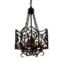 CWI Lighting Branch 16 inch 4 Light Chandelier with Autumn Bronze Finish