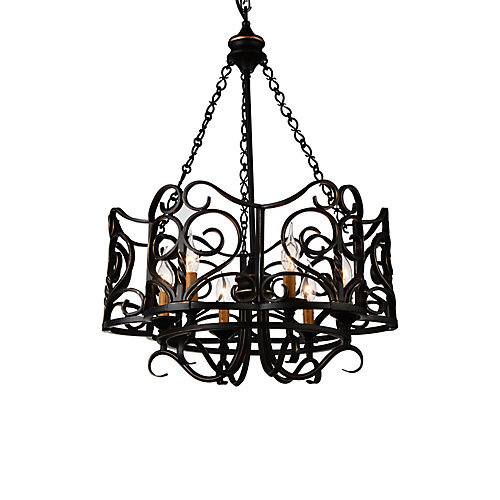 Branch 23 inch 6 Light Chandelier with Autumn Bronze Finish