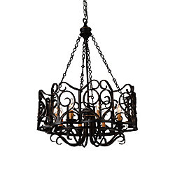 Branch 25 inch 8 Light Chandelier with Autumn Bronze Finish