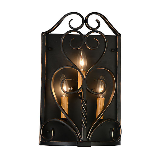 Branch 4 inch 3 Light Wall Sconce with Autumn Bronze Finish