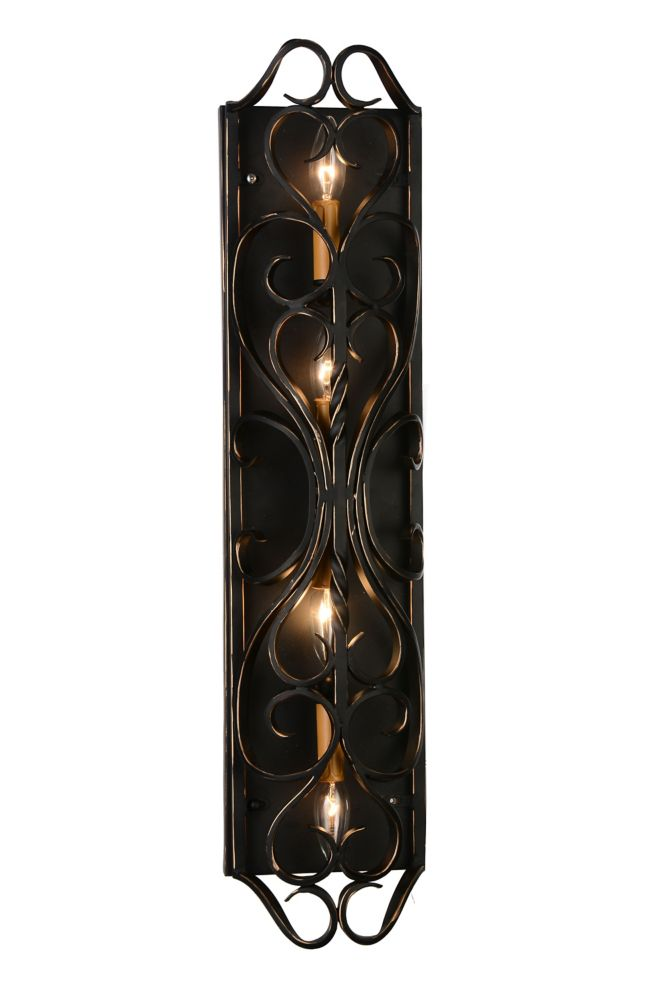 CWI Lighting Branch 4 inch 4 Light Wall Sconce with Autumn Bronze Finish