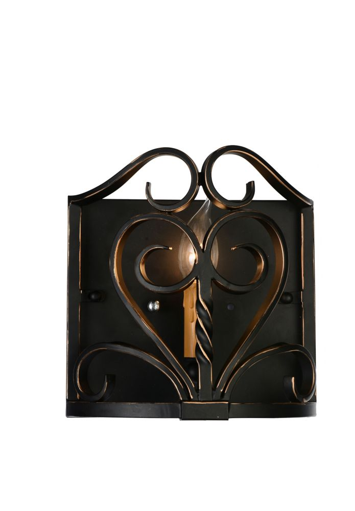 CWI Lighting Branch 4 inch 1 Light Wall Sconce with Autumn Bronze Finish