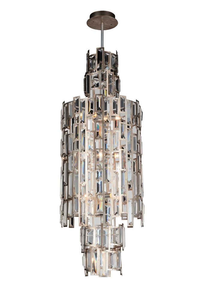 CWI Lighting Quida 14 inch 10 Light Mini Pendant with Champagne Finish