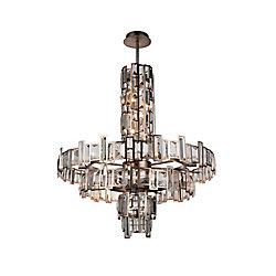 Quida 30 inch 18 Light Chandelier with Champagne Finish