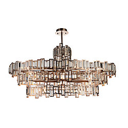 Quida 44 inch 21 Light Chandelier with Champagne Finish