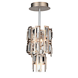 Quida 6 inch 3 Light Mini Pendant with Champagne Finish