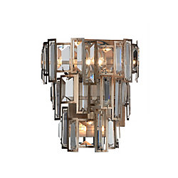CWI Lighting Quida 7 inch 3 Light Wall Sconce with Champagne Finish