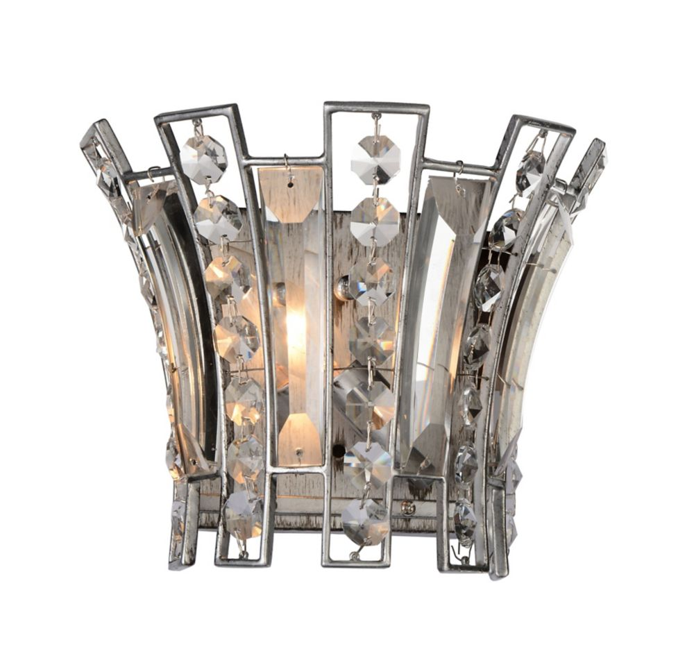 CWI Lighting Nile 5 inch 1 Light Wall Sconce with Antique Forged Silver Finish