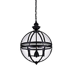 Lune 12 inch 3 Light Mini Pendant with Black Finish
