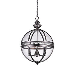 Lune 12 inch 3 Light Mini Pendant with Satin Nickel Finish
