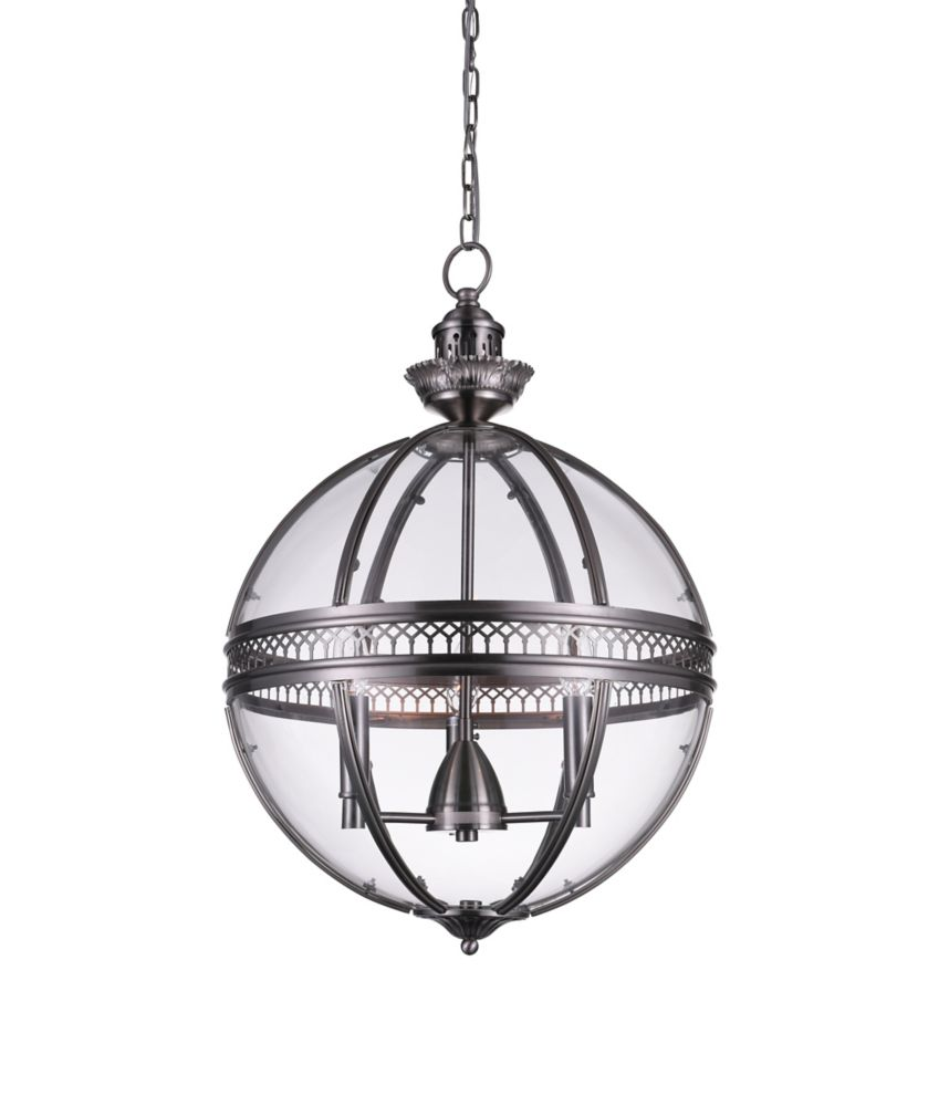 CWI Lighting Lune 12 inch 3 Light Mini Pendant with Satin Nickel Finish