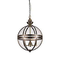 Lune 12 inch 3 Light Mini Pendant with Bronze Finish