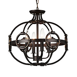 Vernal 16 inch 4 Light Chandelier with Brushed Golden Brown Finish