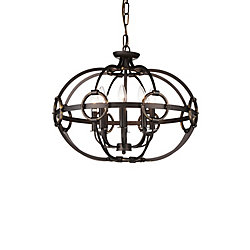 Vernal 23 inch 8 Light Chandelier with Brushed Golden Brown Finish