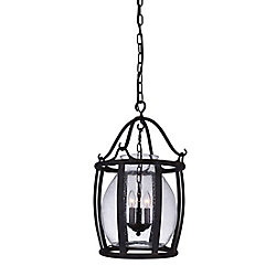 Imperial 16 inch 3 Light Pendant with Antique Black Finish