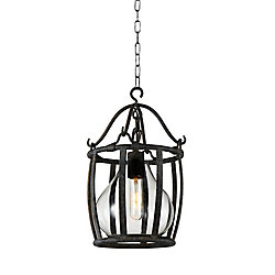 Imperial 9 inch 1 Light Mini Pendant with Antique Black Finish