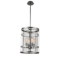 Manito 15 inch 4 Light Chandelier with Pewter Finish
