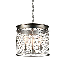 Kaliga 15 inch 3 Light Chandelier with Champagne Finish