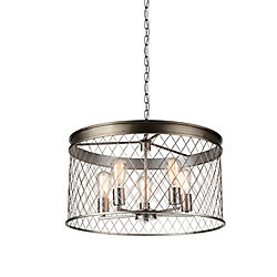 Kaliga 23 inch 5 Light Chandelier with Champagne Finish