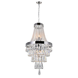 Vast 16 inch 6 Light Chandelier with Chrome Finish