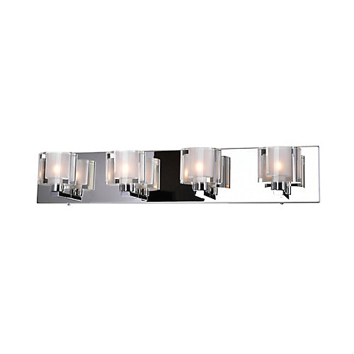 Tina 25 inch 4 Light Wall Sconce with Chrome Finish