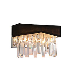 Havely 10-inch 2 Light Wall Sconce with Chrome Finish