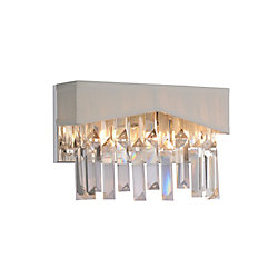 Havely 10 inch 2 Light Wall Sconce with Chrome Finish