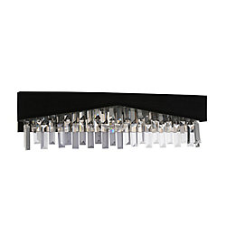 CWI Lighting Havely 24-inch 4 Light Wall Sconce with Chrome Finish