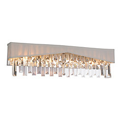 Havely 24 inch 4 Light Wall Sconce with Chrome Finish