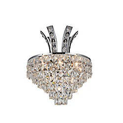Chique 12 inch 3 Light Wall Sconce with Chrome Finish