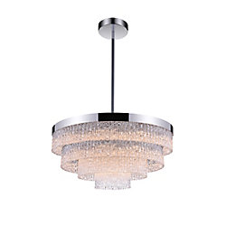 Carlotta 25 inch 9 Light Chandelier with Chrome Finish