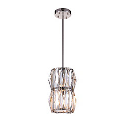 Squill 6 inch 2 Light Pendant with Polished Nickel Finish