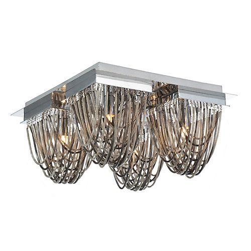 Isla 14 inch 4 Light Flush Mount with Chrome Finish