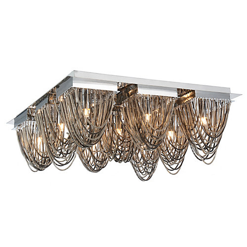 Isla 21 inch 9 Light Flush Mount with Chrome Finish