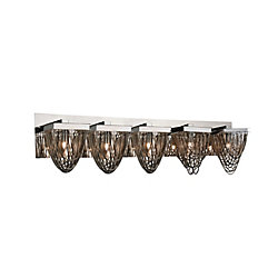 Isla 36 inch 5 Light Wall Sconce with Chrome Finish