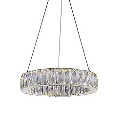 Juno 16-inch LED Chandelier with Chrome Finish