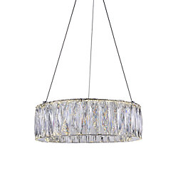CWI Lighting Juno 16 inch LED Chandelier with Chrome Finish