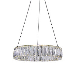 Juno 20-inch LED Chandelier with Chrome Finish