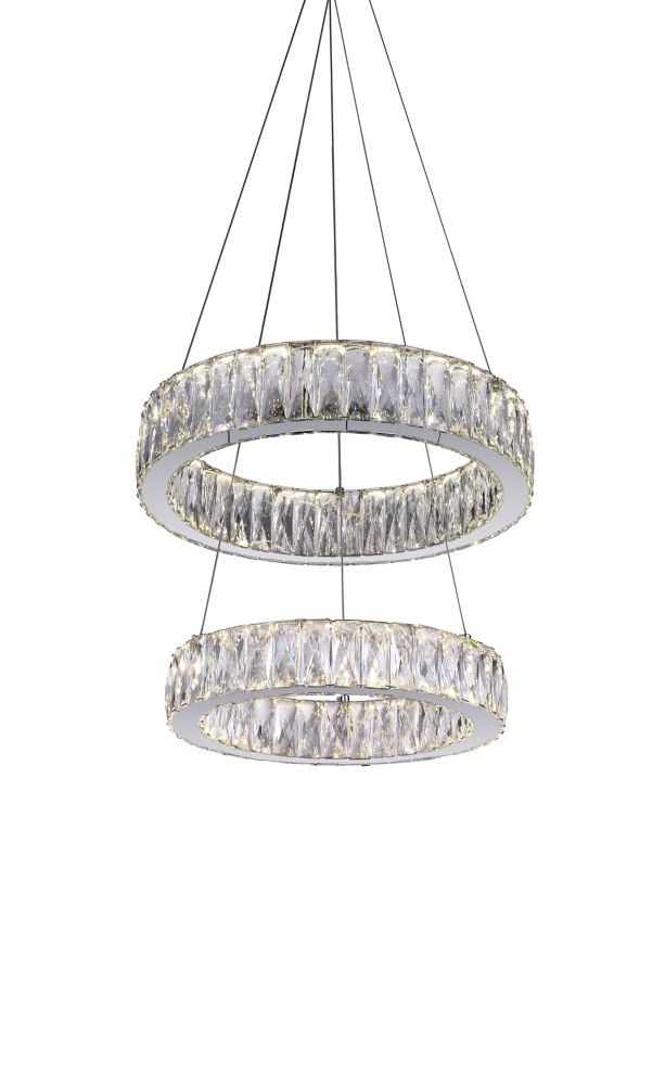 CWI Lighting Juno 20 inch LED Chandeleir with Chrome Finish