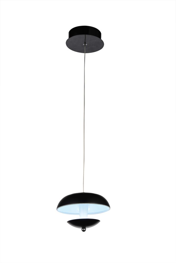 CWI Lighting Aviva 5 inch LED Pendant with Bright Nickel Finish