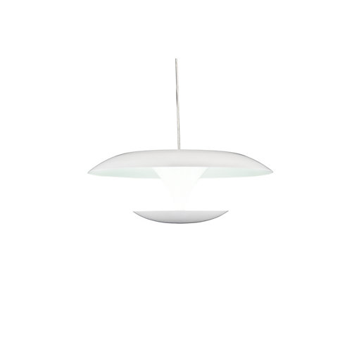 Aviva 8 inch LED Pendant with White Finish