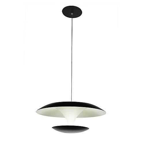Aviva 8 inch LED Pendant with Bright Nickel Finish