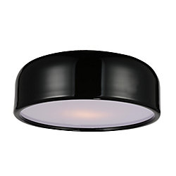 Campton 19 inch 3 Light Flush Mount with Black Finish