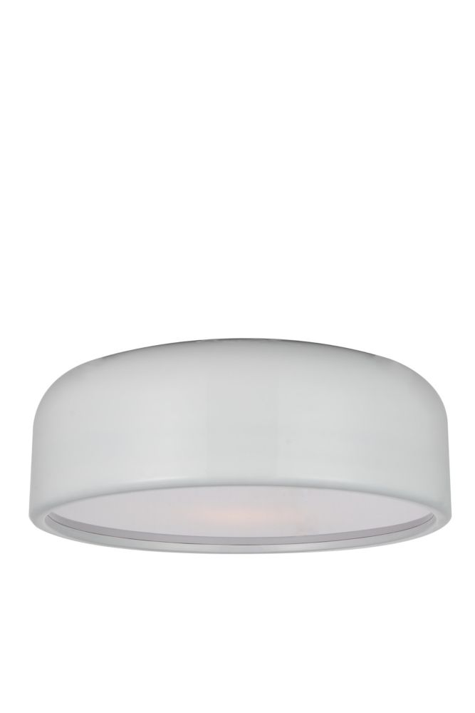CWI Lighting Campton 19 inch 3 Light Flush Mount with White Finish