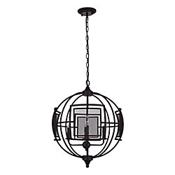 Alistaire 21 inch 4 Light Chandelier with Reddish Black Finish