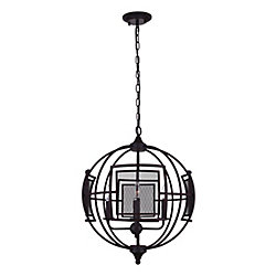 Alistaire 28 inch 9 Light Chandelier with Reddish Black Finish