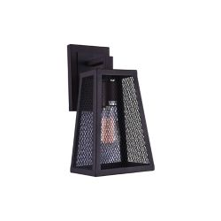 CWI Lighting Alistaire 7-inch 1-Light Wall Sconce Light Fixture with Reddish Black Finish