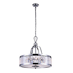 Belvoir 20 inch 5 Light Chandelier with Chrome Finish
