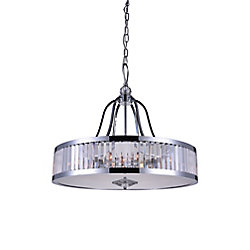 Belvoir 26 inch 6 Light Chandelier with Chrome Finish